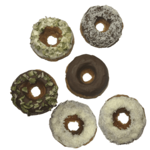 iced doughnuts